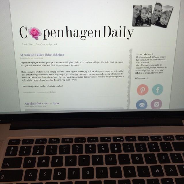 I dag vinker jeg farvel til mit gamle blogdesign. Det har fulgt mig i sådan ca 8 år, så det er en smule angstprovokerende at ændre det så radikalt som jeg gør ?? #blog #copenhagendaily #blogdesign #wordpress