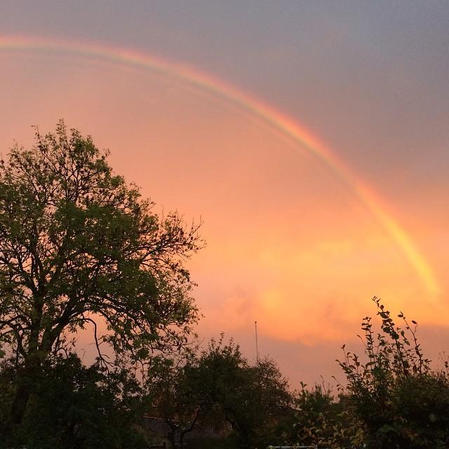 Wøw en pæn regnbue har vi også ? #nofilter #rainbow