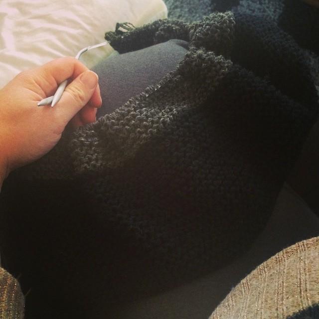 Endelig kommet til farveskift på babytæppet :-D #knitstagram #strikkedame #garnudsalg