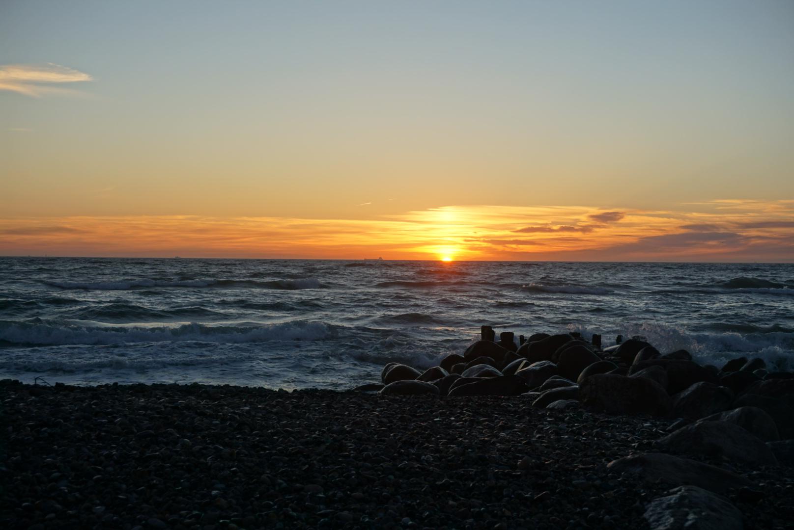 solnedgang i Skagen